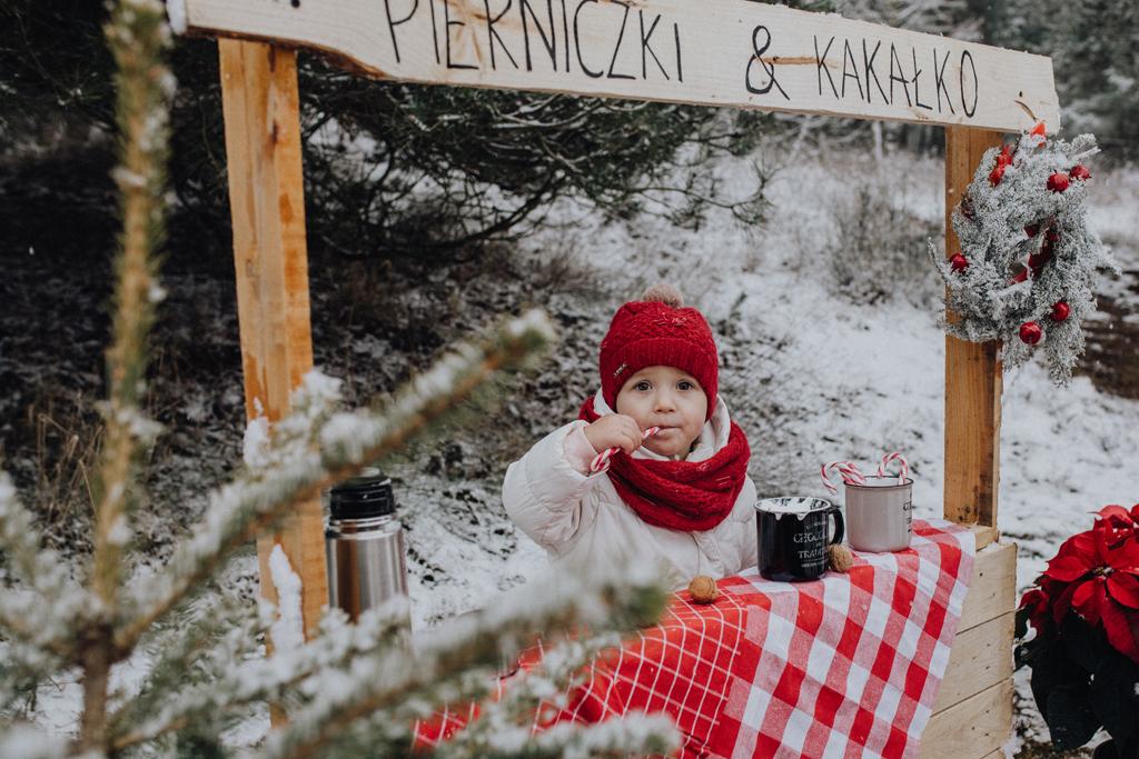 Sesja świąteczna plenerowa 2018 Guzik fotografuje